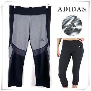 Adidas Climalite Graphic Capri leggings B & W
